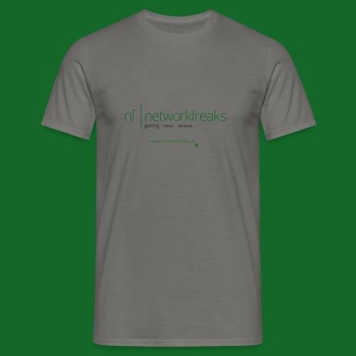 T-Shirt NetworkFreaks Grüne Aufschrift - Männer T-Shirt