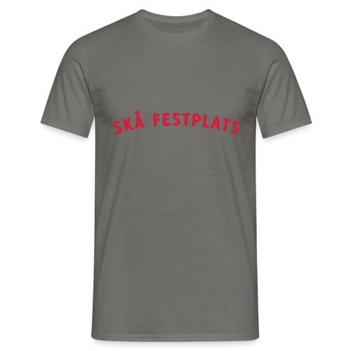Skå Festplats Logotyp Röd - T-shirt herr