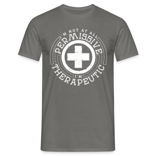 I'm Not Permissive (Black) - Men's T-Shirt