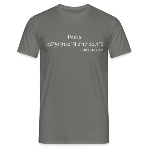 Koordinaten Shirt Paris - Männer T-Shirt