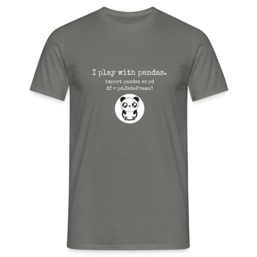 Python Programming playing with pandas - Men's T-Shirt