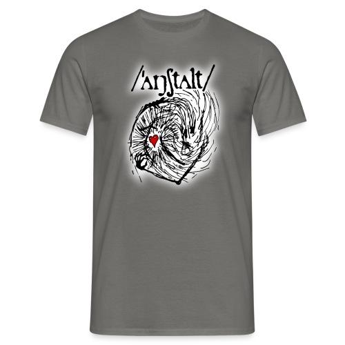 wesen mit herz und logo - Männer T-Shirt
