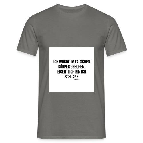 falscher Körper - Männer T-Shirt