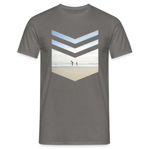 Surf Beach Triangle - Männer T-Shirt