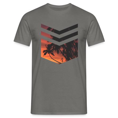 Palm Beach Triangle - Männer T-Shirt