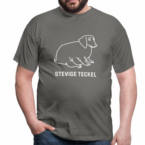 Stevige Teckel - Mannen T-shirt