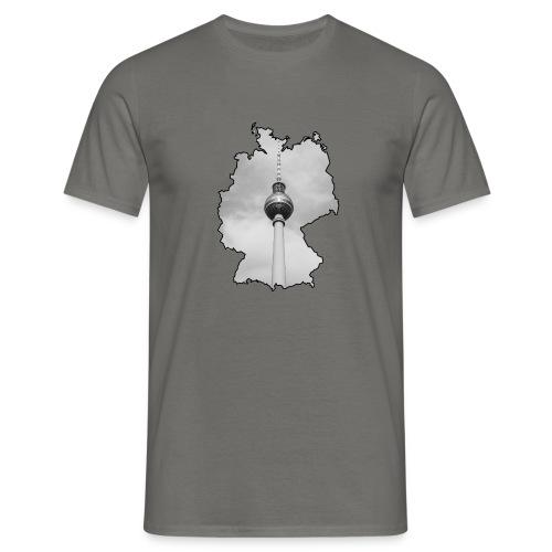 Berliner Fernsehturm im Deutschland Style - Männer T-Shirt