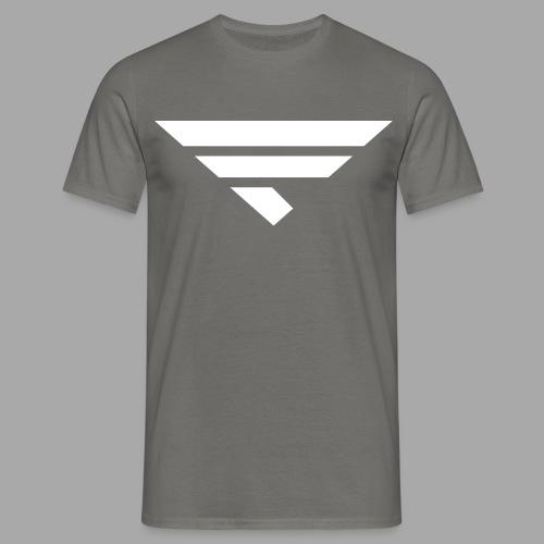 LOGO WHITE - Männer T-Shirt
