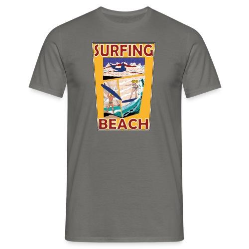 Surfing beach comic Urlaub t-shirt - Männer T-Shirt