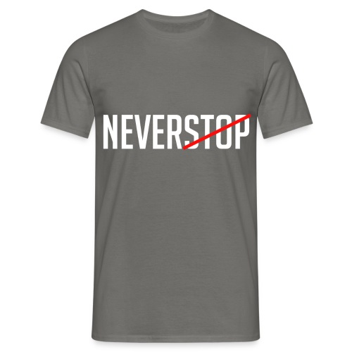 Neverstop - Mannen T-shirt