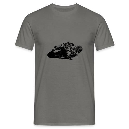 Rennmotorrad schwarz - Männer T-Shirt