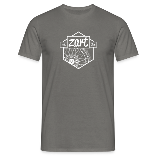 z.art Logo | white - Männer T-Shirt