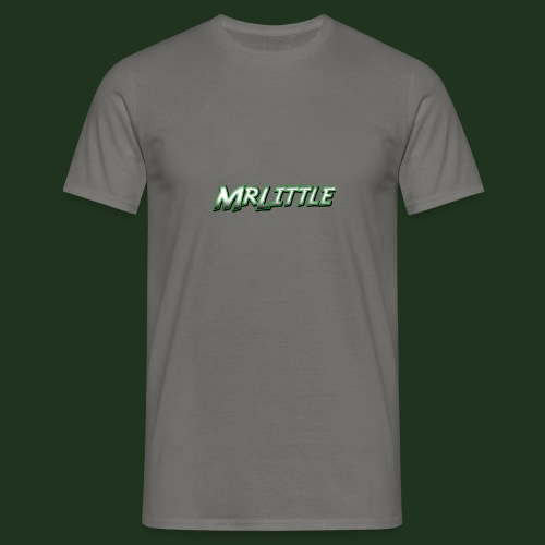 A simple text which fits on dark colours. - Men's T-Shirt