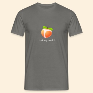 Look my peach in white - Men's T-Shirt