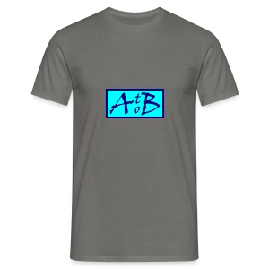 AtoB Logo light blue - Men's T-Shirt