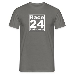 Race24 Logo - White - Men's T-Shirt