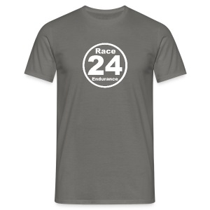 Race24 round logo white - Men's T-Shirt