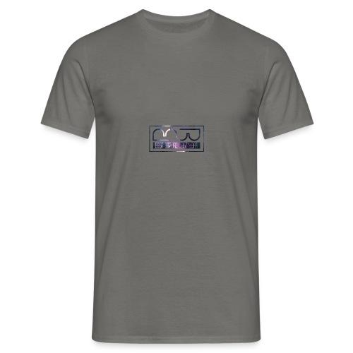 Cap logo Purple - Men's T-Shirt