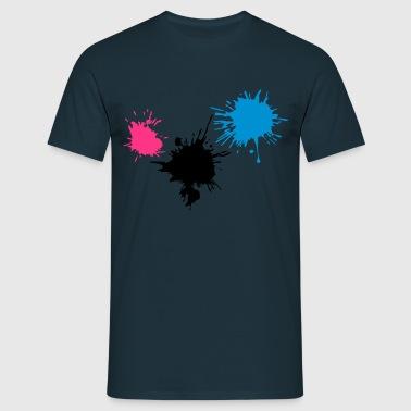 3 färgglada blodfläckar KLEX släppa färg - T-shirt herr