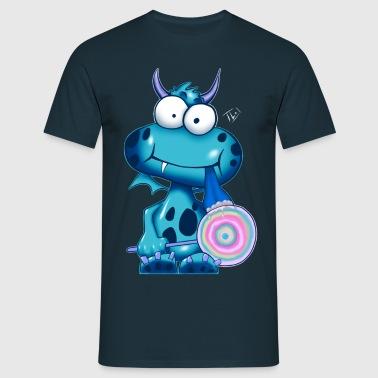 Lolli Olli Monsta sig blue - Männer T-Shirt