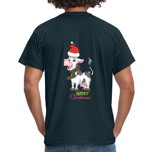 Merry Christmas - cow - T-shirt herr