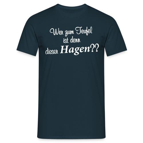 Wer zum Teufel - Männer T-Shirt