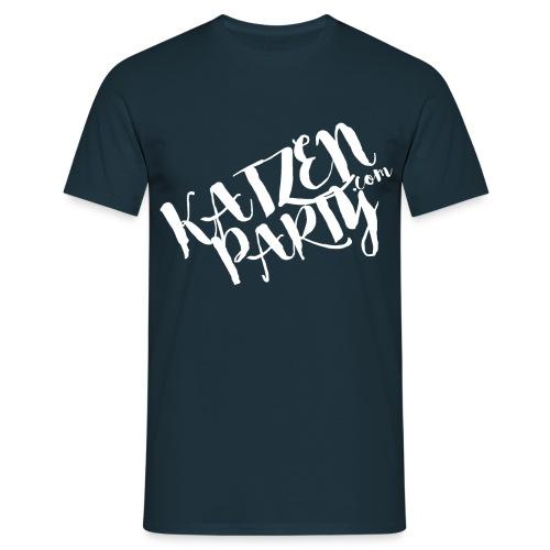 katzenparty weiß - Männer T-Shirt