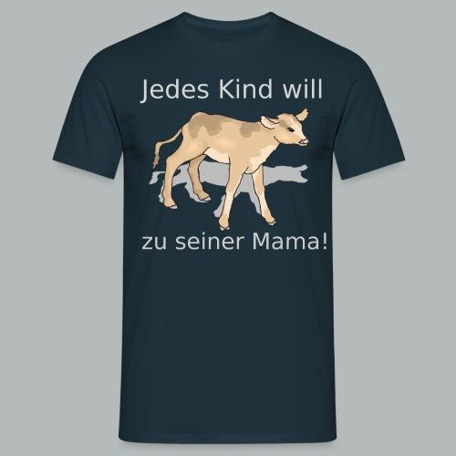 calf 45982 1280 svg png - Männer T-Shirt
