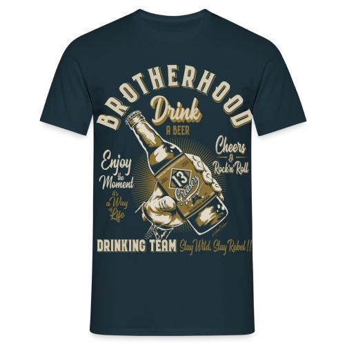 Hermandad y cerveza - Camiseta hombre