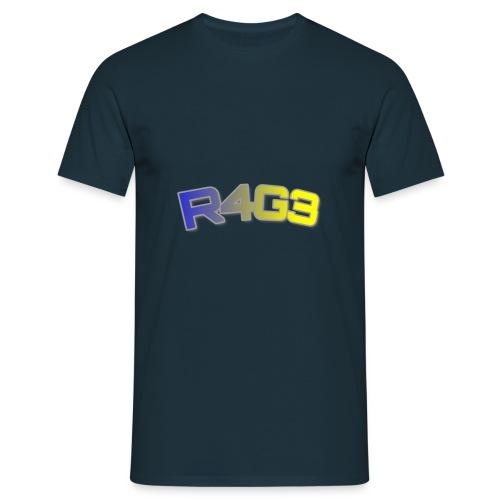 R4G3 Farbige Schrift Designs - Männer T-Shirt