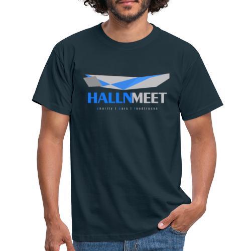 hallnmeet graue schrift - Männer T-Shirt