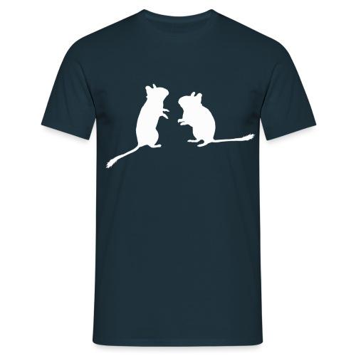Schattenriss Duo - Männer T-Shirt