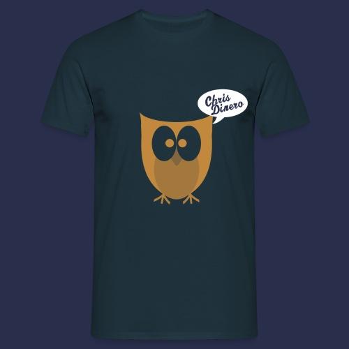 Eule mit weiß/blauen Logo - Männer T-Shirt