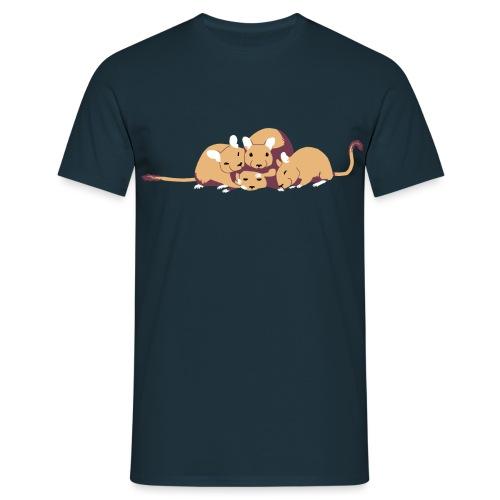 Kuschelhaufen (ohne Text) - Männer T-Shirt