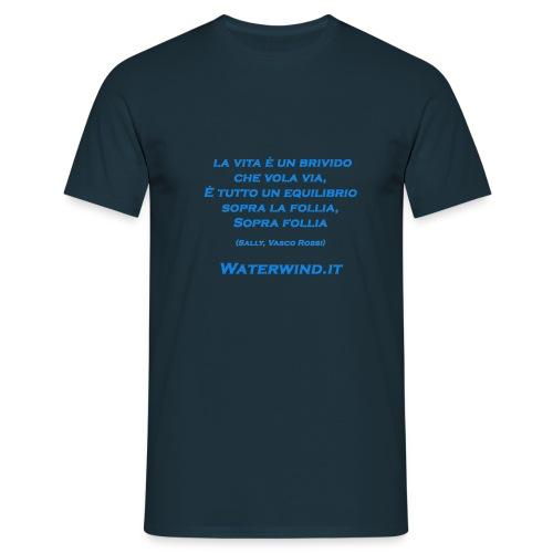 Sally Vasco rossi azzurro - Men's T-Shirt
