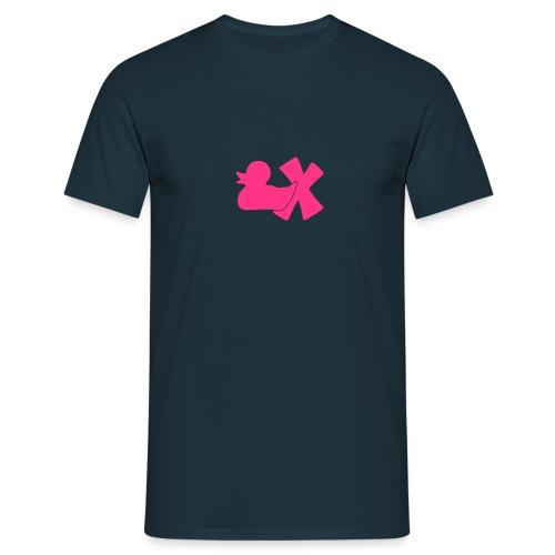 Mütze mit Ente mit X, orange samtig! - Männer T-Shirt