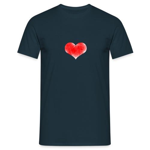 coranzon de lineas - Camiseta hombre