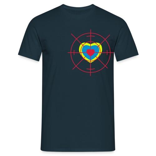 cible de coeur - T-shirt Homme