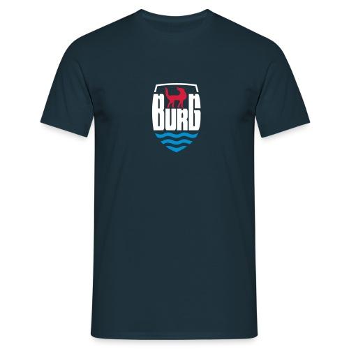 wolf auf burg - Männer T-Shirt
