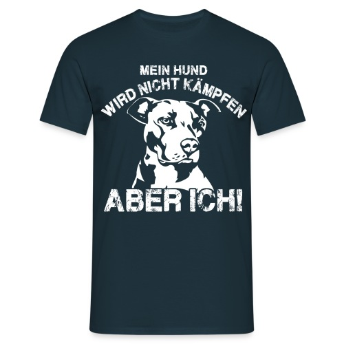 Mein Hund wird nicht kämpfen Pitbull png - Männer T-Shirt