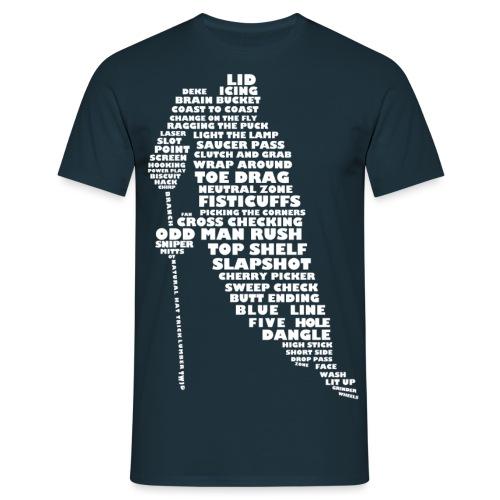 Language of Hockey (White) - Men's T-Shirt