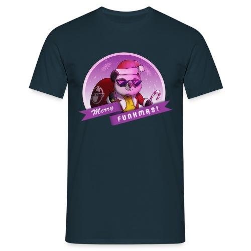 Funky Pandas Merry Funkmas tee - Men's T-Shirt