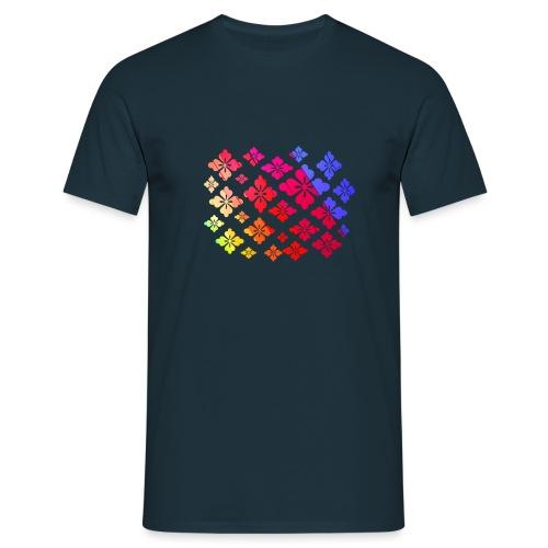 Flower Power Regenbogen Blumen - Männer T-Shirt