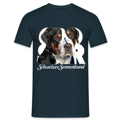Grosser Schweizer Sennenhund - Miesten t-paita