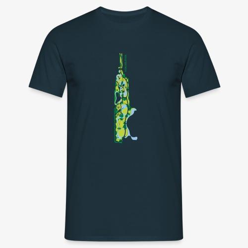 Vondelpark Amsterdam kaart verticaal - Mannen T-shirt