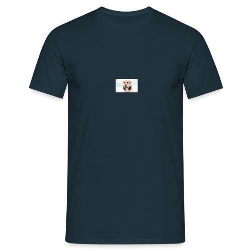 Hond Met Koptelefoon Op Borst - Mannen T-shirt