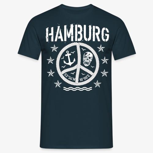 105 Hamburg Peace Anker Seil Koordinaten - Männer T-Shirt