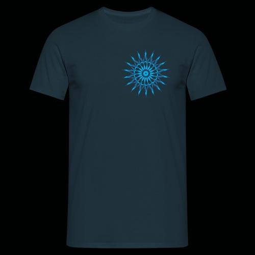 Mandala Blau - Männer T-Shirt
