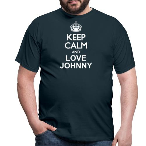 keep calm and love Johnny blanc - T-shirt Homme