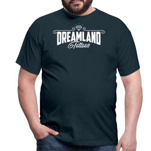 Dreamland white text - T-shirt herr